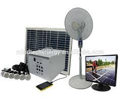 40 watts solar home lighting kits loading 6 pcs led bulbs or s and fan