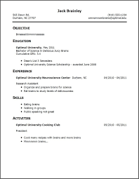 Simple Resume With No Experience Resume Corner