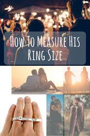 How To Measure His Ring Size Printable Ring Sizer And A