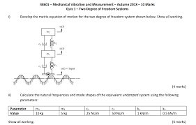 Solved 48601 Mechanical Vibration And Measurement Autum
