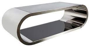 pia chrome coffee table contemporary