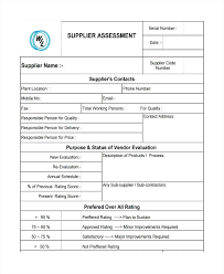 Software Evaluation Form Template Best Of Vendor Initial Supplier ...