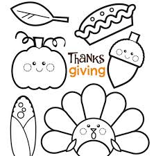 Small Picture Simple Printable Thanksgiving Coloring Pages Coloring Coloring Pages