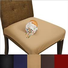 plastic chair seat covers. Unique Covers SmartSeat Dining Chair Cover And Protector  Pack Of 2 Sandstone Tan  Removable Inside Plastic Seat Covers S
