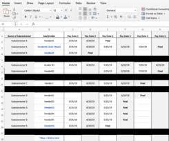 Spreadsheet Tracking Lien Waiver Tracking Spreadsheet Levelset