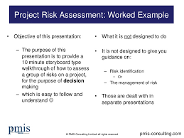 Assessment Example Project Risk Assessment Worked Example