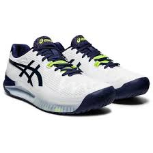 The babolat sfx 3 tennis shoes offer more natural, free flowing movements without losing any support or durability. Gel Resolution 8 2e Men S Tennis Shoe In White Peacoat Starthreesixty Com