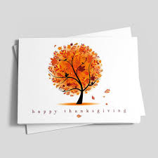 Thanksgiving Tree Thanksgiving Greeting Cards By Cardsdirect