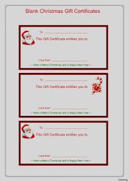Printable Christmas Certificates Elegant Of Christmas Blank Gift Certificate Template Free Printable