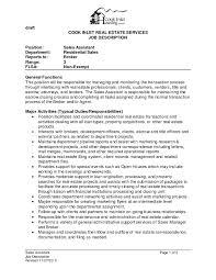37 Best Real Estate Agent Job Description For Resume Ef O76333