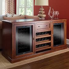 Siena Wine Credenza Walnut with Two Wine Refrigerators Wine