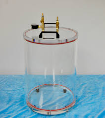clear round acrylic vacuum chamber
