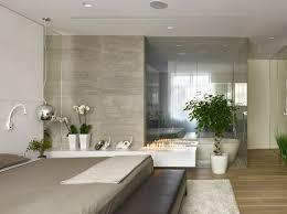 single family home bathroom glass wall