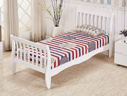 white and white furniture. Beautiful And White Pine Single Bed Frame Sleigh Design  Furniture Maxi  On And