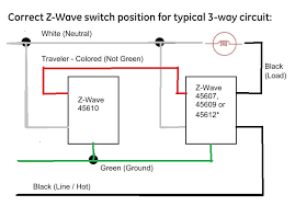 i am having a problem wiring my zwave ge way my below is a diagram for connecting the zwave components you ll need to verify the wiring between switches and modify to the diagram