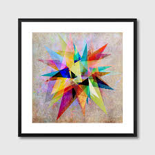 colorful  framed art print  abstract vector wall art