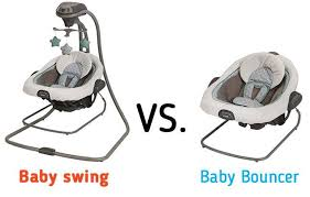 What is the difference between baby swing Vs baby bouncer?