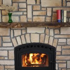 Kettle Moraine Hardwoods Read Rustic Fireplace Mantel Shelf   Hayneedle