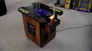 Cocktail Arcade Cabinet Vintage 1980 Pac Man Cocktail Table Arcade Game Cabinet Overview