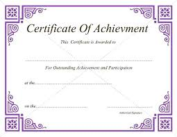 Certificate Of Achievement Templates Free Magnificent Free Printable Music Award Certificates Certificate Template Post