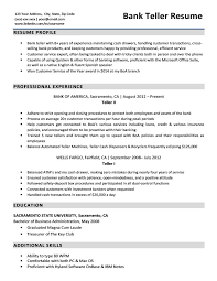 Resume Skills For Bank Teller