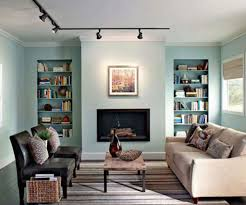 track lighting in living room. Living Room With Built In Shelves And Track Lighting : Change The Bulbs R