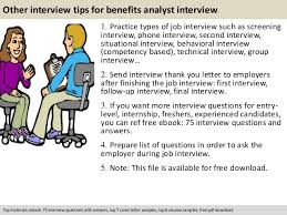 free pdf download 11 other interview tips for benefits analyst benefits analyst job description