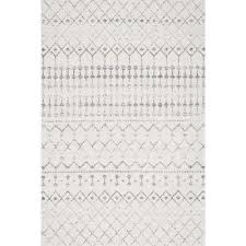 gray and white rug. Blythe Grey 8 Ft. Gray And White Rug 7