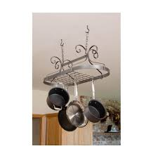 Pot Rack With Lights Home Depot Enclume Handcrafted Scrolled Oval Pot Rack With 12 Hooks