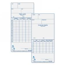 Acroprint 09 9110 000 Weekly Bi Weekly Time Cards The Office Dealer