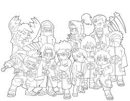 Naruto Akatsuki Free Coloring Pages On Art Coloring Pages