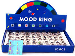 You Re In The Mood Ring Color Chart Mood Rings 1970s Mortal Journey