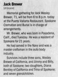 Obituary for Jack Wesley Brewer (Aged 71) - Newspapers.com