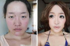 before and after photos of chinese s with and without makeup