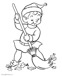 Elf Free Printable Christmas Elves Coloring Pages Elf Free Printable