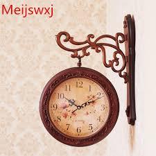 meijswxj double sided wall clock saat reloj clock relogio de parede duvar saati reloj de pared horloge murale plastic mute watch a wall clock amazing wall