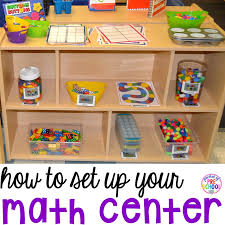 how to set up your math center in your preschool pre k and