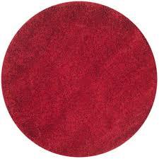 safavieh california red 4 ft x 4 ft round area rug