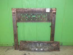 vintage copper plated fireplace surround 0