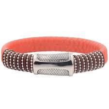 fancy stylish kada chain leather bracelets for girls