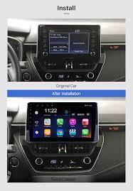 Toyota Corolla 2019 Dashboard Warning Lights 10 1 Inch Android 8 1 2019 Toyota Corolla Head Unit Hd