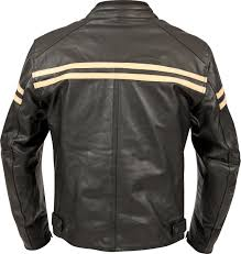 2017 weise brunel leather motorcycle jacket rear cream