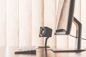 workspace office. (click To Download) Speaker In Minimalistic Office Workspace Setup FREE Stock Photo