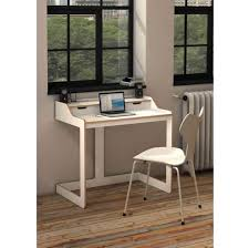 Furniture: Cool White Desk For Small Spaces Including White Armless Chair - Cool  Desks For