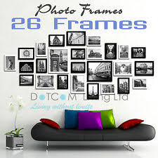 picture frames on wall. Large Multi Picture Photo Frames Wall Set 13/20/23/26PCS Art Deco On