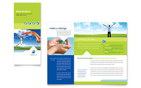 Non Profit Brochure Templates Free Green Living Recycling Tri Fold Brochure Template Word