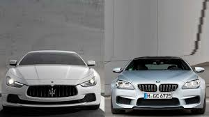 BMW 5 Series bmw m6 vs maserati granturismo : 2014 Maserati Ghibli vs 2014 BMW M6 - YouTube