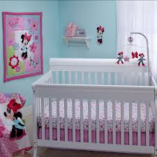 minnie mouse simply adorable 4 piece crib bedding set