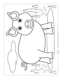 Calm species from a farm, like horse, donkey, dog, goat, cow, and pigs. Farm Animals Coloring Pages For Kids Itsybitsyfun Com