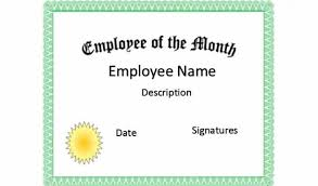 Printable Employee Of The Month Certificates Printable Employee Of The Month Certificates Mozo